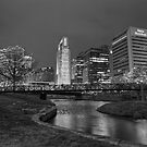 Omaha Skyline in Black and White by Tim Wright