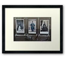 19th Century Cartes de Visite Framed Print