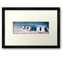 Merewether Baths - Front Blocks Framed Print