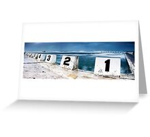 Merewether Baths - Front Blocks Greeting Card