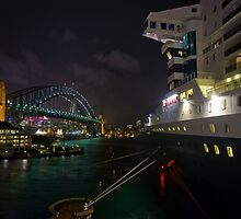 Bridge to Bridge | QM2 | Sydney by Bill Fonseca