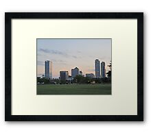 Daylight Milwaukee Skyline Framed Print