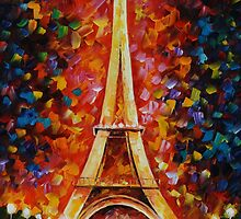 EIFFEL TOWER - LEONID AFREMOV by Leonid  Afremov