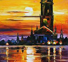 OLD TOWER - LEONID AFREMOV by Leonid  Afremov