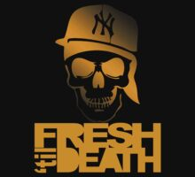 Fresh 'til Death Skulls (ORANGE) by Faded Fabrics
