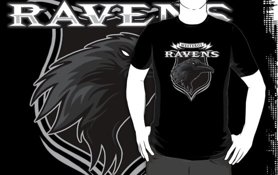 Westeros Ravens- Game of Thrones Shirt by spacemonkeydr