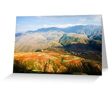The Red Earth of Luoxiagou Greeting Card