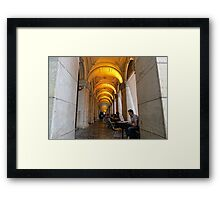 Cold Yellow Framed Print