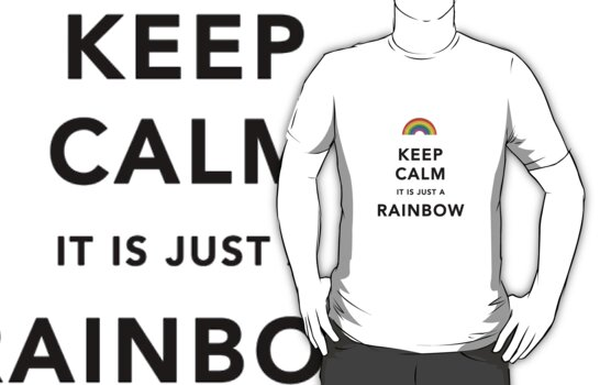 Keep Calm Rainbow on white by Ommik