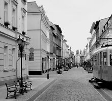 Poland Streets B/W by Matt Hill