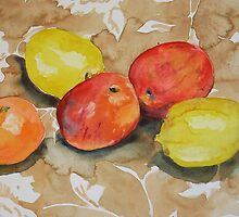 Water colour painting, Fruit Still Life by Emily King