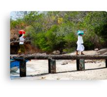 two women on pemateran island Canvas Print