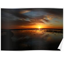 Sunset over the Rota Corrales Poster