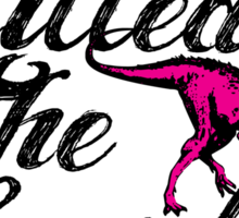 Dubstep Killed The Lovely Dinosaurs Sticker