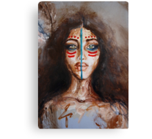 Face Painting Canvas Print