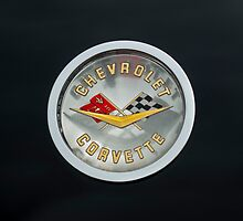 1960 Chevrolet Corvette Roadster Emblem by Jill Reger