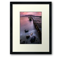 Tarawera in the Pink Framed Print