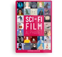 The Sci-fi Film Alphabet Metal Print