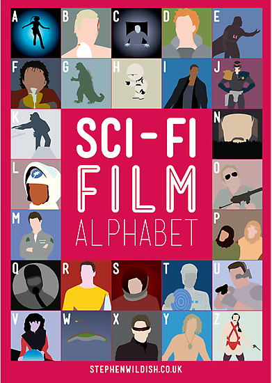 The Sci-fi Film Alphabet by Stephen Wildish