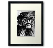Lemmy caricature Framed Print