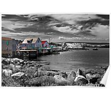 Indian Harbour - selective colour Poster