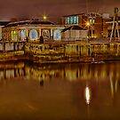 Clarendon Dock-Belfast-Night by peter donnan