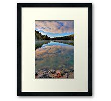 Pink Lake Reflections Framed Print