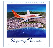 Departing Honolulu Classic Airliners ver 2 by brianrolandart