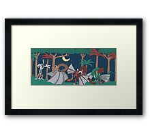 Where the Dragons Are Framed Print