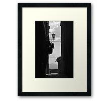 Walking around Pienza. Framed Print