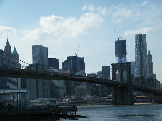 Brooklyn Bridge, View from Brooklyn Bridge Park, New York  by lenspiro