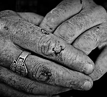 Working class hands by Karen Tregoning