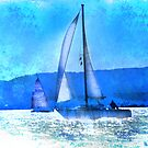 Sailing in the Sparkle of Blue by linaji