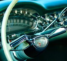 1958 Oldsmobile 98 Steering Wheel by Jill Reger