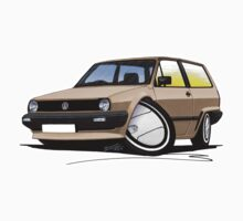 VW Polo (Mk2) Beige by Richard Yeomans