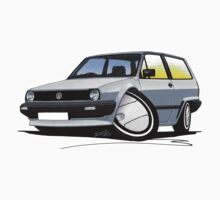 VW Polo (Mk2) Silver by Richard Yeomans