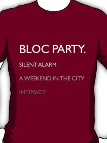 Bloc Party Albums T-Shirt