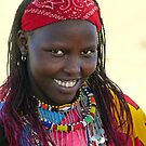 Maasai lady in all her glory by Linda Sparks