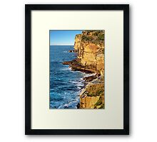 The Sea Cliffs Framed Print