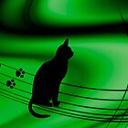  &lt;))))&gt;&lt; CAT PRINTS &quot; Now which Line do i follow?? &lt;))))&gt;&lt;  by  Bonita Lalonde