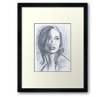 NEIGHBOR GIRL Framed Print