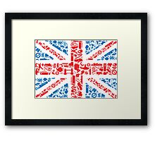 British and Proud Framed Print