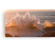 ipad ....when two waves love each other... Canvas Print