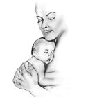 mother and child drawing by parko