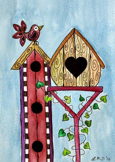Bird House ~ Sweet Spring Memories. by Lisa Frances Judd~QuirkyHappyArt