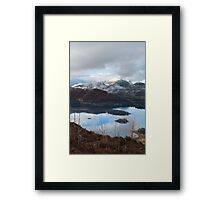 Winter over Causy Pike from Walla Crag Framed Print