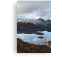 Winter over Causy Pike from Walla Crag Canvas Print