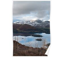 Winter over Causy Pike from Walla Crag Poster