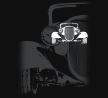 1933 Ford Coupe T-Shirt (BW) by blulime