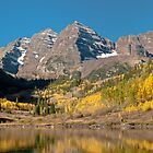 The Maroon Bells In Fall Dress by Greg Summers